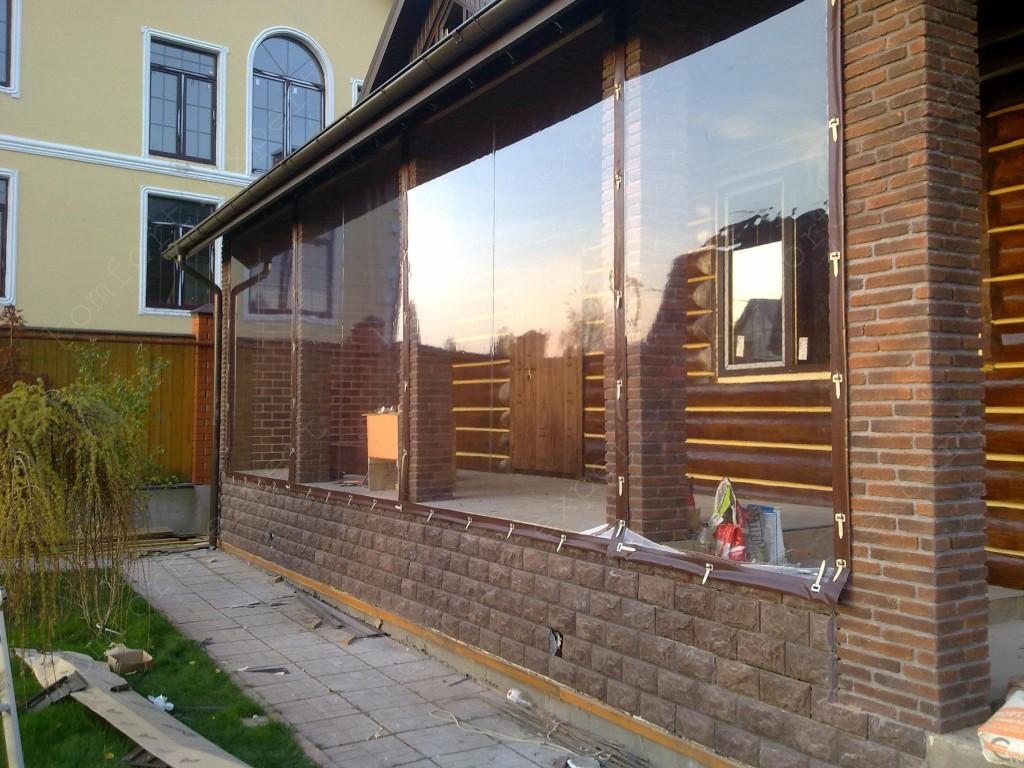 Прозрачные шторы для веранд и террас