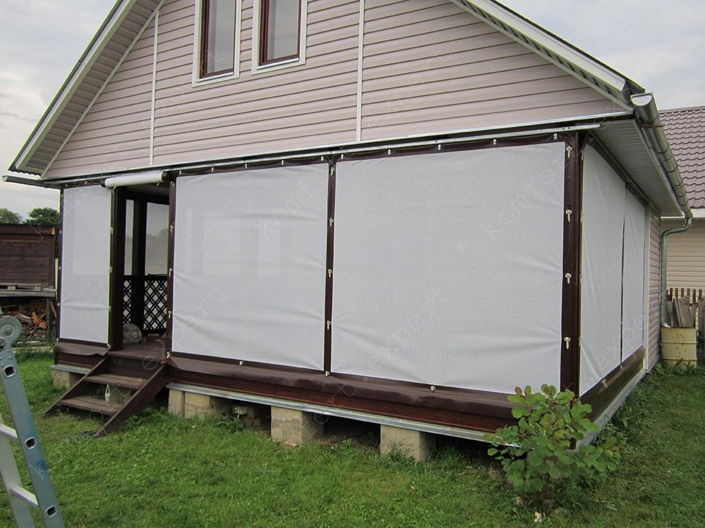 Перфорированные шторы для веранд и террас