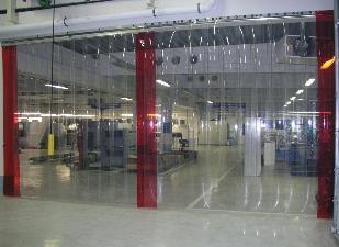 Полосовые завесы для холодильных камер, складов и автомоек
